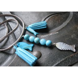 SAUTOIR BLUE LAGON